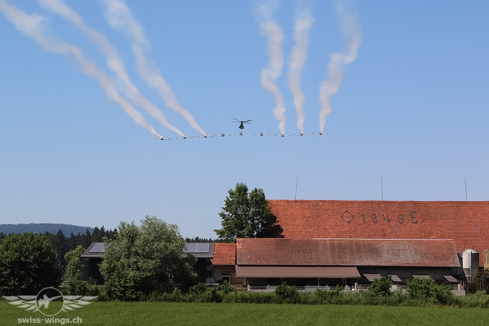 PC-7 Team und Super Puma Display Team